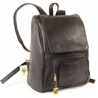 Jahn-Tasche – Large leather backpack size L / laptop backpack up to 15.6 inches, black, model 711