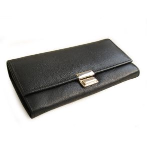 Hamosons – Professional waiter's wallet / waiter's purse made out of Nappa leather, black, model 1013