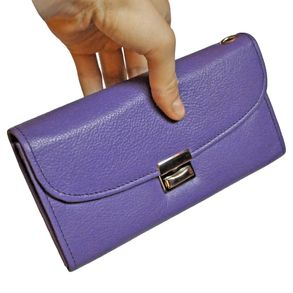 Hamosons – Professional waiter's wallet / waiter's purse made out of Nappa leather, purple, model 1015