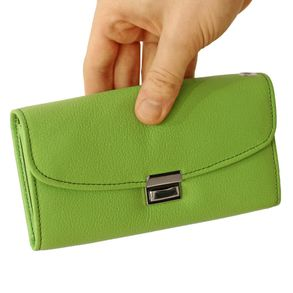 Hamosons – Professional waiter's wallet / waiter's purse made out of Nappa leather, spring green, model 1015