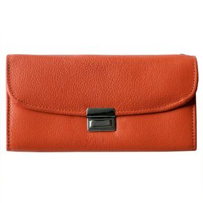 Hamosons – Professional waiter's wallet / waiter's purse made out of Nappa leather, orange, model 1015