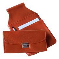 Hamosons, 1015 - Orangene Profi Kellnerbörse bzw. Kellnertasche, Frontansicht zusammen mit passendem Kellnerholster - 05