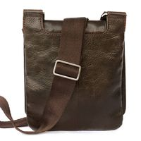 Jahn-Tasche – Small shoulder bag size S / handbag made out of Nappa leather, A5 upright format, brown, model 418