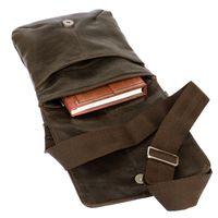 Jahn-Tasche, 418 – Kleine, braune Handtasche bzw. Umhängetasche aus Leder, Aufsicht geöffnet - 04
