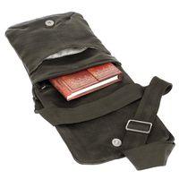 Jahn-Tasche, 418 – Kleine, schwarze Handtasche bzw. Umhängetasche aus Leder, Aufsicht geöffnet - 04
