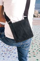 Jahn-Tasche – Small shoulder bag size S / handbag made out of Nappa leather, A5 upright format, black, model 418