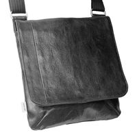 Jahn-Tasche – shoulder bag size M / handbag made out of Nappa leather with a padded tablet computer compartment, black, model 428