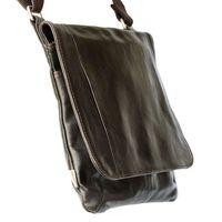 Jahn-Tasche, 418 – Mittelgroße, braune Handtasche bzw. Umhängetasche aus Leder, Seitenansicht - 02