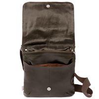 Jahn-Tasche, 418 – Mittelgroße, braune Handtasche bzw. Umhängetasche aus Leder, Aufsicht geöffnet - 04