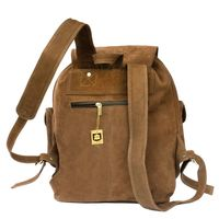 Hamosons – Large leather backpack size L / laptop backpack up to 15.6 inches, made out of buffalo leather, brown, model 560-5