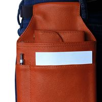 Hamosons – Professional waiter's holster / waiter's belt bag made out of Nappa leather, orange, model 1009
