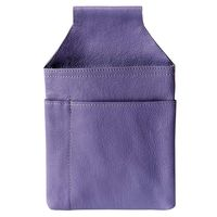 Hamosons – Professional waiter's holster / waiter's belt bag made out of Nappa leather, purple, model 1009