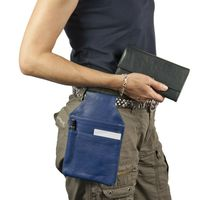 Hamosons – Professional waiter's holster / waiter's belt bag made out of Nappa leather, royal blue, model 1009