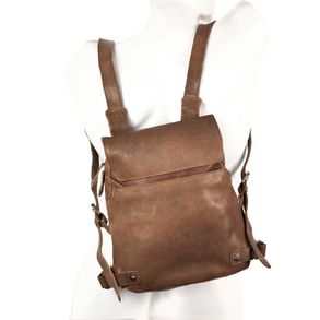 Harolds – Small leather backpack size S / handbag backpack made out of leather, brown, model 223702