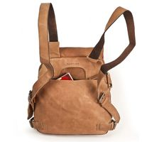 Harold's – Small Leather Rucksack / Daypack size S, Camel Brown, Model 2230702