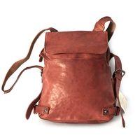 Harolds 223702 - Kleiner, rostfarbener Lederrucksack bzw. Rucksackhandtasche, Frontalsicht - 02