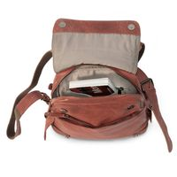 Harolds – Small leather backpack size S / handbag backpack made out of leather, rust red, model 223702-3