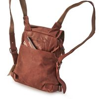 Harolds – Small leather backpack size S / handbag backpack made out of leather, rust red, model 223702-4