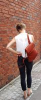 Harolds – Small leather backpack size S / handbag backpack made out of leather, rust red, model 223702-12