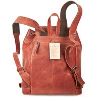 Harolds – Chic leather backpack / city bag size M made out of leather, rust red, model 223902-3