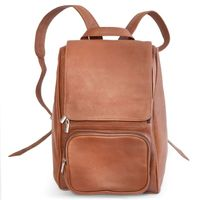 Jahn-Tasche – Medium sized leather backpack size M / laptop backpack up to 14 inches, cognac brown, model 710