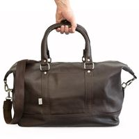 Jahn-Tasche – Medium sized travel bag / weekend bag size M made out of nappa leather, brown, model 698-3
