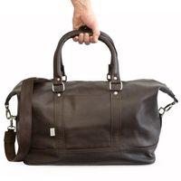 Jahn-Tasche – Mittel-Große Reisetasche / Weekender Größe M aus Nappa-Leder, Braun, Modell 698