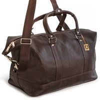 Jahn-Tasche – Small travel bag / weekend bag size S made out of nappa leather, brown, model 698