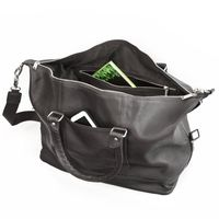 Jahn-Tasche – Medium sized travel bag / weekend bag size M made out of nappa leather, black, model 698