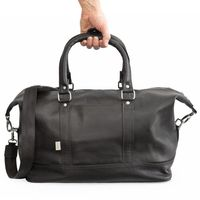Jahn-Tasche – Medium sized travel bag / weekend bag size M made out of nappa leather, black, model 698-2