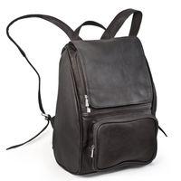 Jahn-Tasche –  Mittel-Großer Lederrucksack Größe M / Laptop-Rucksack bis 14 Zoll, Schwarz, Modell 710