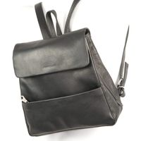 Harolds – Elegant leather backpack size M / handbag backpack made out of leather, black, model 445125