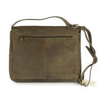 Harolds – Medium-Sized Leather Shoulderbag / Handbag, Khaki Green, Modell 310403