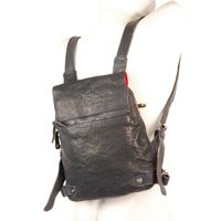 Harolds – Small leather backpack size S / handbag backpack made out of leather, blue black, model 223702