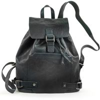 Harold's – Elegant Leather Backpack / Daypack size M, Midnight Blue, Model 223902