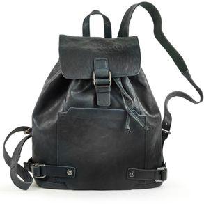 Harold's – Elegant Leather Backpack / Daypack size M, Midnight Blue, Model 223902