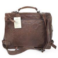 Harolds – Elegante Aktentasche Größe M / Laptoptasche bis 15 Zoll, aus Leder, Dunkel-Braun, Modell 375502