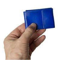 Branco – Very small wallet / coin purse size XS, made out of leather, royal blue, model 103-4