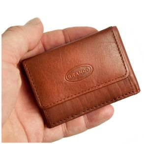 Branco – Very small wallet / coin purse size XS, made out of leather, brown, model 103