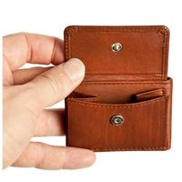 Branco – Very small wallet / coin purse size XS, made out of leather, brown, model 103-2