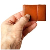 Branco – Very small wallet / coin purse size XS, made out of leather, brown, model 103-4