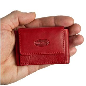 Branco – très petit porte-monnaie / mini porte-monnaie taille XS en cuir, rouge, modèle 103