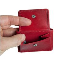 Branco – Very small wallet / coin purse size XS, made out of leather, red, model 103-2