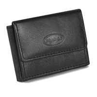 Branco – Very small wallet / coin purse size XS made out of leather, black, model 103-6