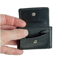 Branco – Very small wallet / coin purse size XS made out of leather, black, model 103-2