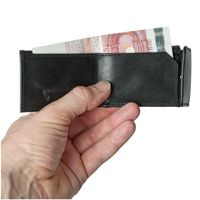 Branco – Very small wallet / coin purse size XS made out of leather, black, model 103-3