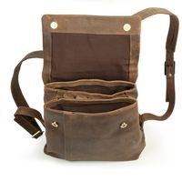 Harolds – Kleiner Lederrucksack Größe S / Rucksack-Handtasche aus Leder, Natur-Braun, Modell 418303