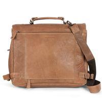 Harolds – Elegante Aktentasche Größe M / Laptoptasche bis 15 Zoll, aus Leder, Camel-Braun, Modell 375502