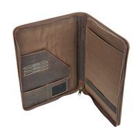 Harolds – Elegante A4 Schreibmappe / Dokumentenmappe, aus geöltem Leder, Braun, Modell 398803