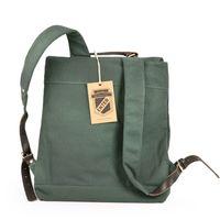 Enter – Großer stylischer Canvas Rucksack / Vintage Rucksack Größe L, Flaschen-Grün, Modell 1304